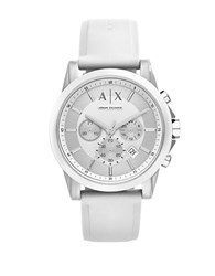 Armani Exchange Ax1325 Polished Nylon And Silicone Watch White