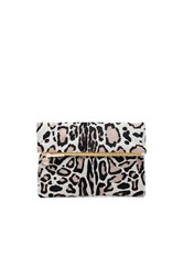 Clare V. Hair On Foldover Clutch Beige