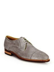 Corthay Ike Suede Lace Up Derby Oxfords Grey