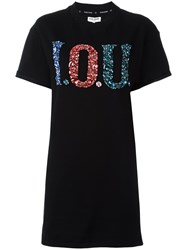 Opening Ceremony 'I.O.U' T Shirt Dress Black