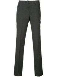 Officine Generale Striped Tailored Trousers Men Cotton 52 Black