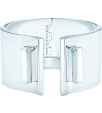 Tiffany And Co. T Bar Hinged Cuff In Sterling Silver Medium