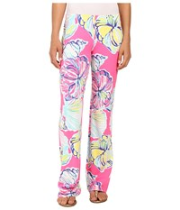 Lilly Pulitzer Georgia May Palazzo Kir Royal Pink Swept By The Tides Women's Casual Pants
