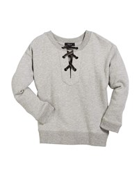 Rails Oliver Lace Up Sweatshirt Gray