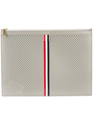 Thom Browne Medium Zipper Document Holder 35X25 Cm With Red Grey