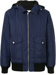 Ck Calvin Klein Hooded Light Jacket Blue