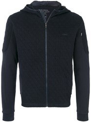 Z Zegna Quilted Hoodie Cotton Polyester Xxxl Blue