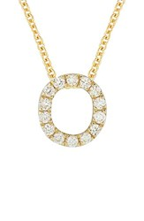 Bony Levy Women's Pave Diamond Initial Pendant Necklace Nordstrom Exclusive Yellow Gold O