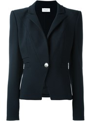 Thierry Mugler Mugler One Button Blazer Blue