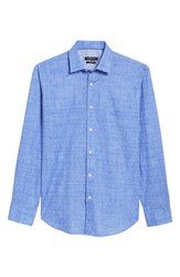 Bugatchi 'S Shaped Fit Print Sport Shirt Orchid
