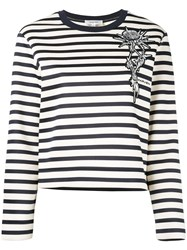 Carven Striped Jumper Women Cotton M White