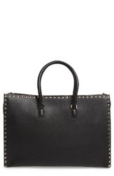 Valentino Rockstud Double Handle Leather Tote