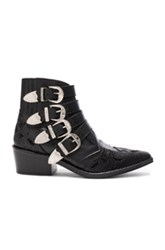 Toga Pulla Leather Booties In Black