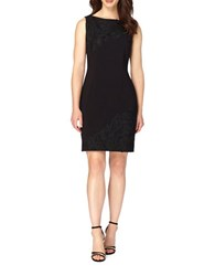 Tahari By Arthur S. Levine Petite Lace Applique Sleeveless Sheath Dress Black