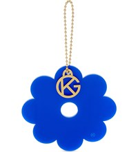 Kurt Geiger London Flower Bag Charm Blue