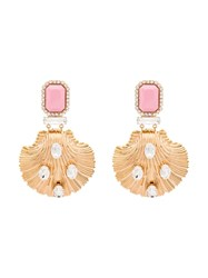 Alessandra Rich Clam Shell Earrings Gold