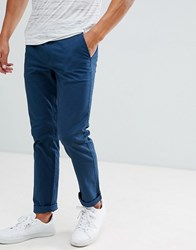 Selected Homme Chinos In Straight Fit Moonlit Ocean Blue