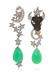 Lydia Courteille 13Th Sign Collection Earrings Green Chrysoprase