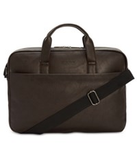 Kenneth Cole Reaction Slim Faux Leather Briefcase Brown