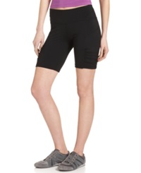 Calvin Klein Performance Shorts Skinny Ruched Bike Shorts Black