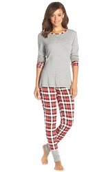 Women's Splendid Cozy Pajama Set Retro Plaid