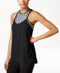 Calvin Klein Performance Racerback Tank Top With Sports Bra