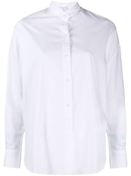 Vince Silk Blend Shirt White