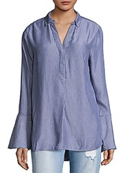 Beach Lunch Lounge Alicia Bell Sleeve Top Blue
