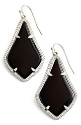 Kendra Scott Women's 'Alex' Drop Earrings Black Opaque Glass Silver