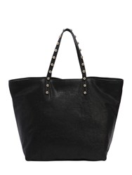 Red Valentino Lizard Embossed Leather Tote Bag Black