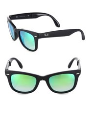 Ray Ban Square Wayfarer Sunglasses Green