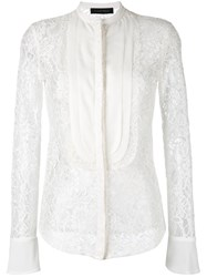 Christian Pellizzari Lace Shirt White