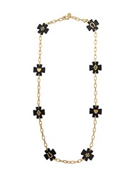 Tory Burch Chunky Chain Necklace Black