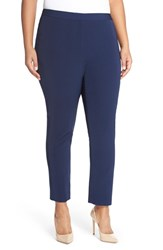 Plus Size Women's Halogen Skinny Stretch Twill Pants Navy Peacoat