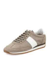 Tom Ford Orford Suede Trainer Sneaker Grey