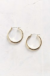 Urban Outfitters Sterling Silver 18K Gold Bamboo Hoop Earring