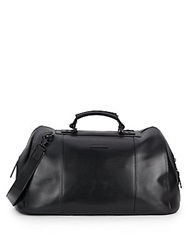 John Varvatos London Leather Duffel Bag Black