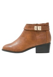 Miss Selfridge Alessia Ankle Boots Brown