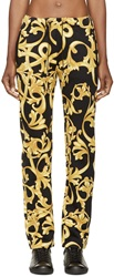 Versace Black And Gold Baroque Lounge Pants
