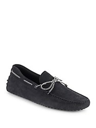 Tod's Suede Tie Drivers Black