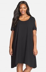 Plus Size Women's Sejour Cold Shoulder Swing Dress