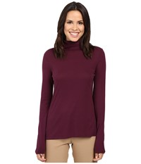 Pendleton Long Sleeve Mock Neck Tee Plum Women's T Shirt Purple