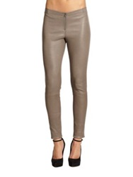 Alice Olivia Front Zip Leather Legging Graphite