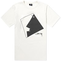 Stussy Square Face Pigment Dyed Tee Pink