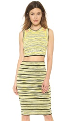 Ronny Kobo Wilhemina Crop Top Lemon Multi