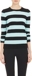 Barneys New York Cashmere Block Striped Sweater Black