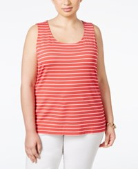 Charter Club Plus Size Striped Tank Top Only At Macy's Red Barn Combo