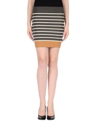 Guess By Marciano Mini Skirts Dark Green