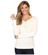 Ariat Fate Henley Top Papyrus Women's Long Sleeve Pullover Taupe