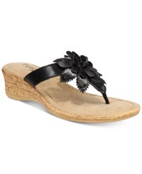 Easy Street Shoes Tuscany Gilda Wedge Sandals Women's Black